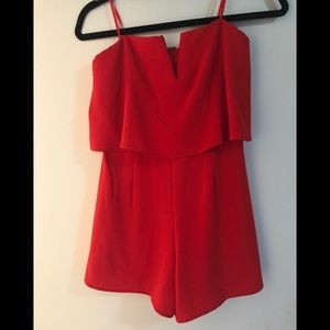 Candy red playsuit